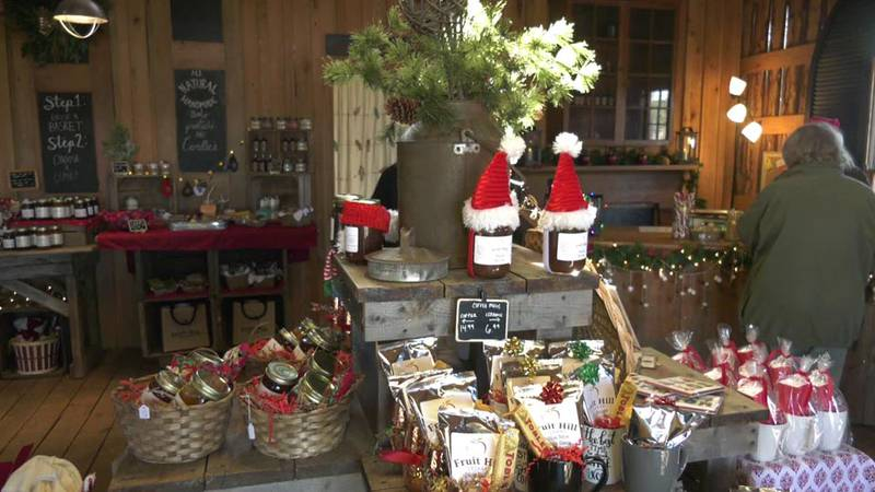 Christmas Shop at Fruit Hill Orchard in Fluvanna County.