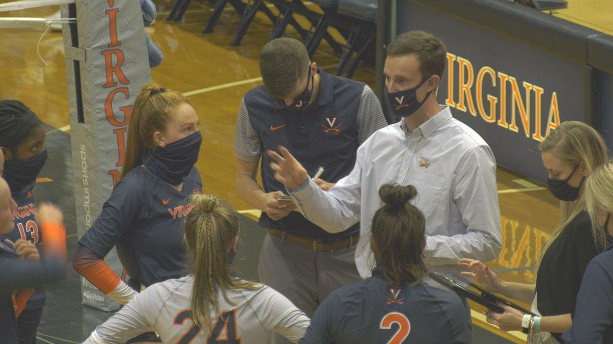 Virginia head coach Aaron Smith