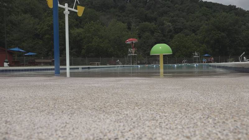 The pool at Grand Caverns is open and ready for swimmers.