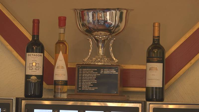 2021 Virginia Wineries Association's 2021 Governor's Cup won by Barboursville vineyard for...