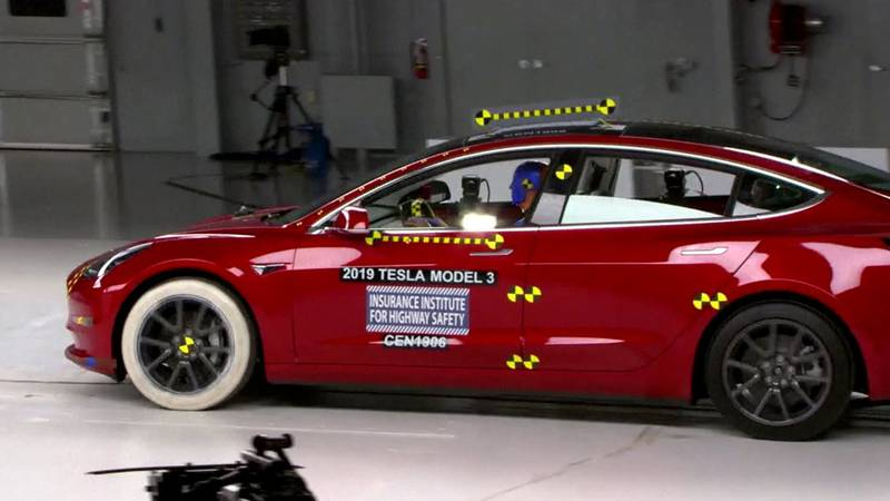 Car being tested at the Insurance Institute for Highway Safety in Greene County. File image...