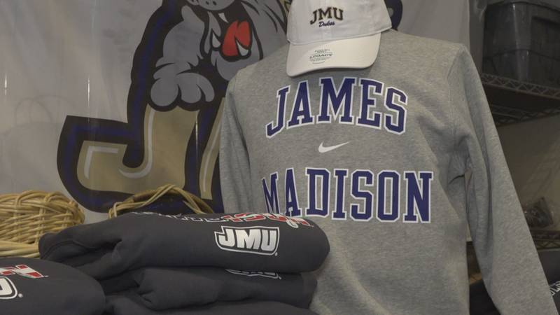 JMU merchandise found at the University Outpost.