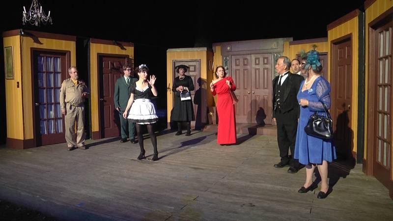 The cast of 'Clue' at Oak Grove Theater in Verona, VA.