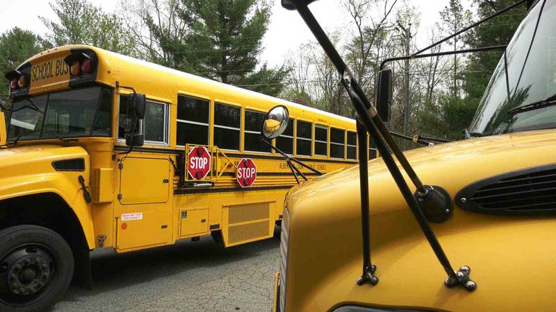 Buses with Albemarle County Public Schools (FILE)