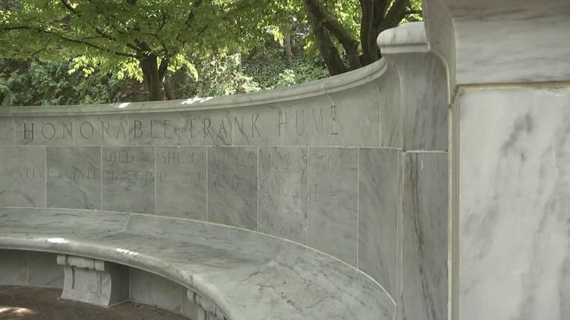 Frank Hume memorial at the University of Virginia.