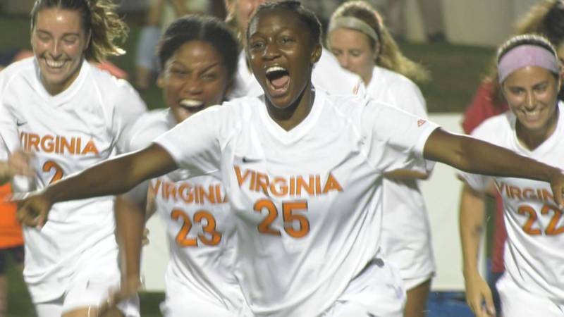 UVA sophomore Samar Guidry scored the first goal of her career in the 8-0 win over Richmond.