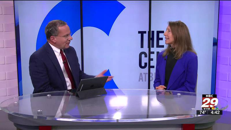Steve chats with Virginia Peale, the marketing and communications director at The Center at...