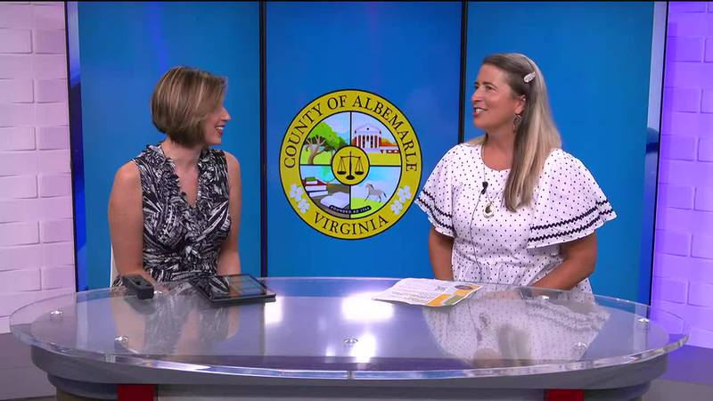 Kasey Hott chats with Serena Gruia, the engagement specialist for Albemarle County.