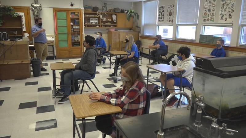 Students will be masked up again as they return to school on Tuesday.