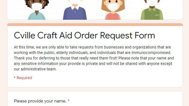 A volunteer-run group is working to get hand-sewn masks to the businesses and organizations...