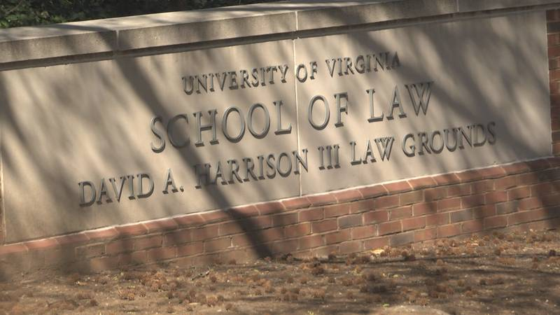 The entrance to University of Virginia School of Law. (FILE)