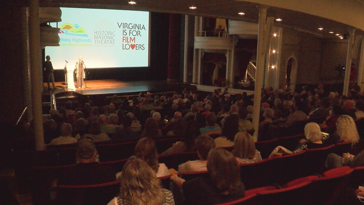 Beth Macy, author of the book the series is based on, speaks to the crowd at the Historic...