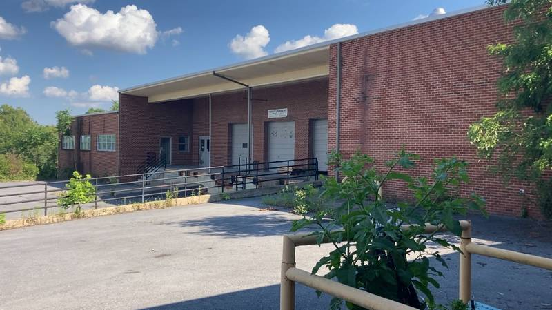 Building 126 at Staunton Crossing slated for demolition on July 3, 2021.