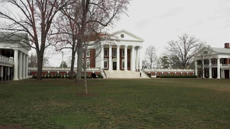 The UVA Rotunda and Lawn in Charlottesville