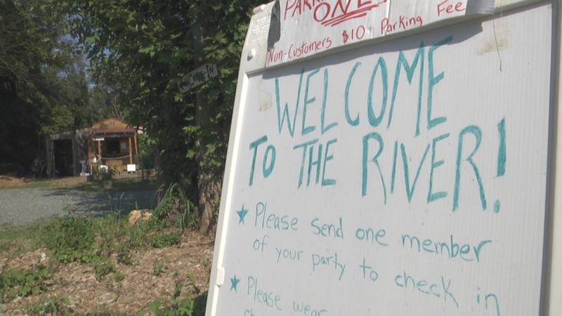 A sign welcoming guests to the Rivanna River, detailing some of the changes required due to the...