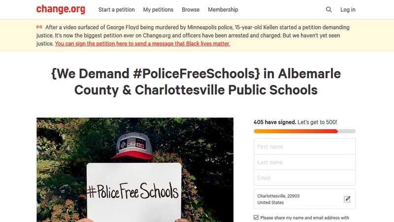 Hate-Free Schools Coalition of Albemarle Co. started this online petition demanding...