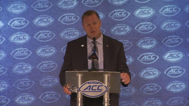 Bronco Mendenhall at the ACC Football Kickoff Media Days