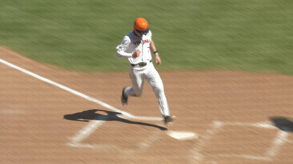 Devin Ortiz scored the only run of the game for UVA