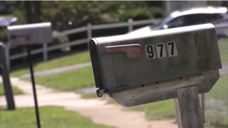 A mailbox outside of a home