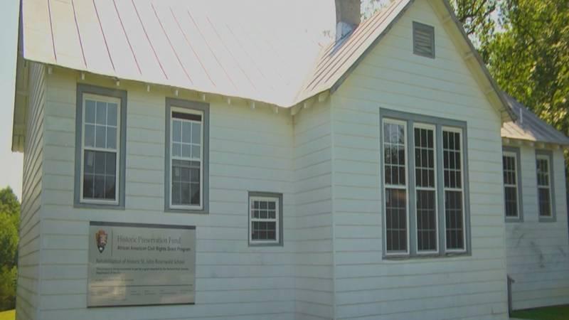The St. John Rosenwald School in Albemarle County.