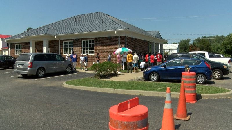 Many people are waiting for hours to get inside the DMV Select Office in Mineral for walk-in...