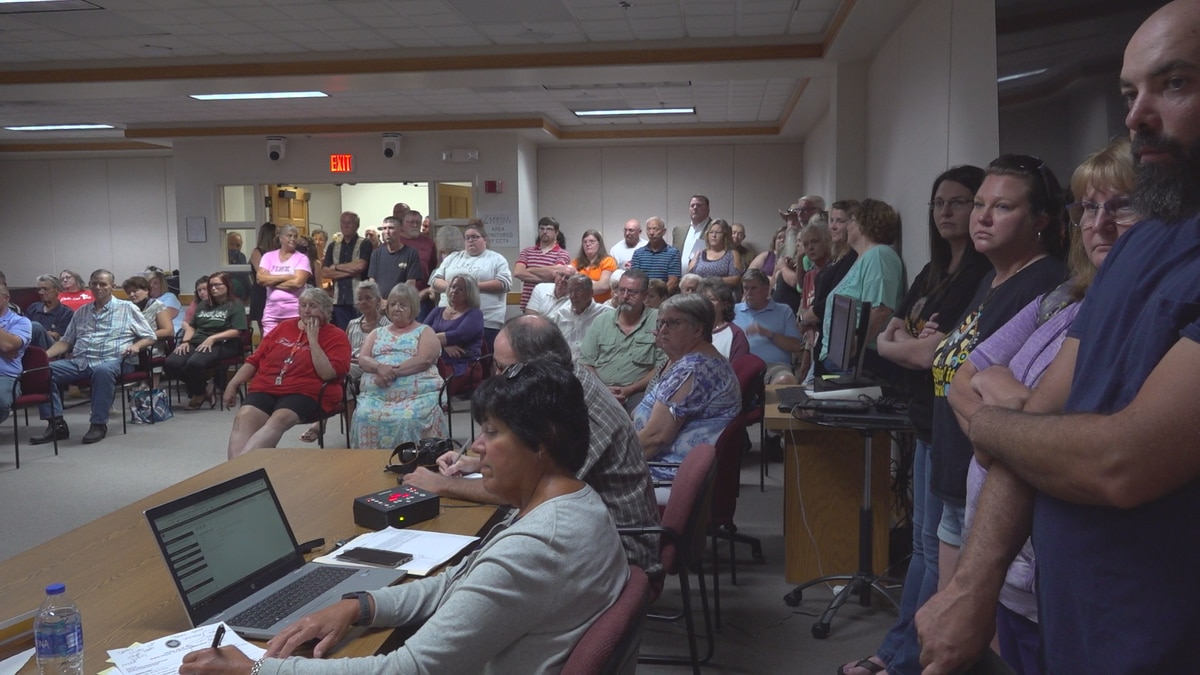 More than 100 parents, students and community members packed Tuesday's School Board Meeting.