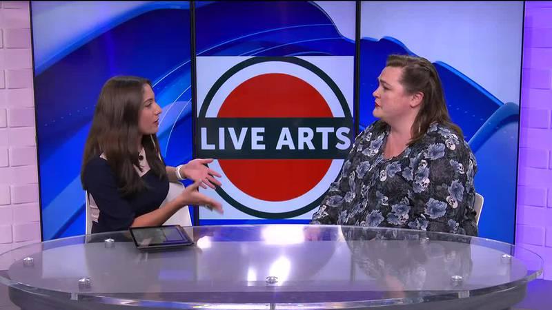 Elizabeth talks with Liz Howard, the production manager and volunteer coordinator for Live Arts.