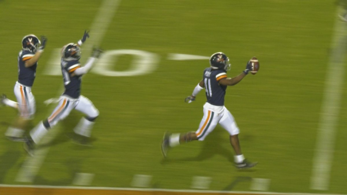 Freshman D'Sean Perry returned an interception 84 yards for a TD in his collegiate debut.