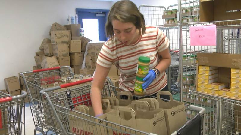 A food pantry in Albemarle County is preparing to serve more people than usual as unemployment...