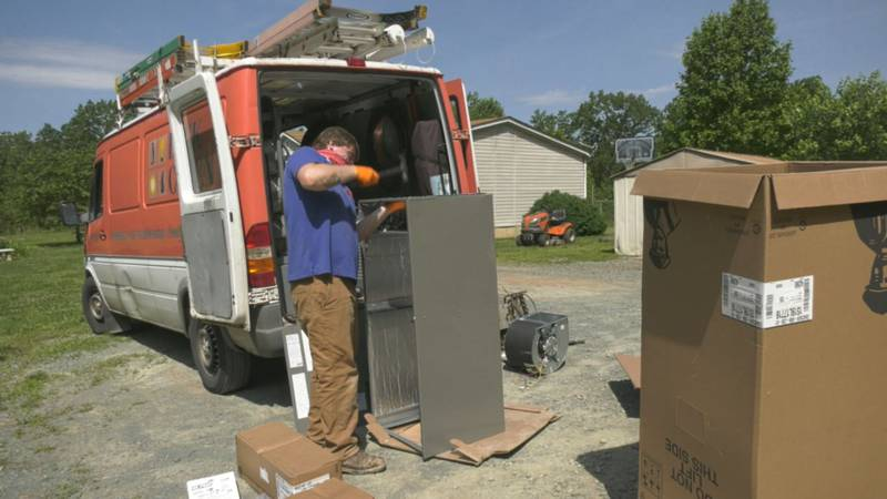 Beck Cohen installs a new HVAC system for a family in Afton through a partnership with AHIP.