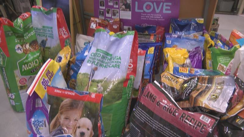 CASPCA has been dropping off pet food to a food pantry in Albemarle County to help keep pets...