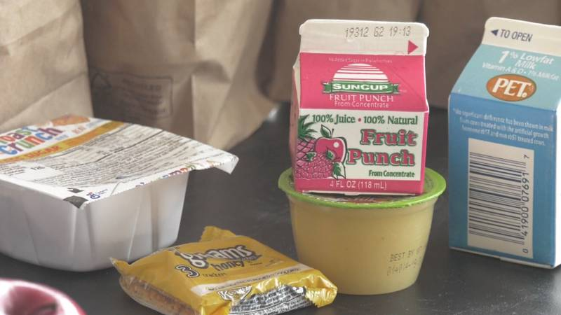Breakfast items those 18 and under can get at pickup locations at Albemarle County schools.
