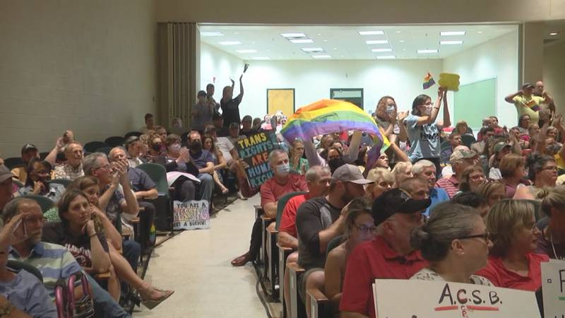 Crowds gathered at the Augusta County School Board meeting on July 29 to discuss policy updates...