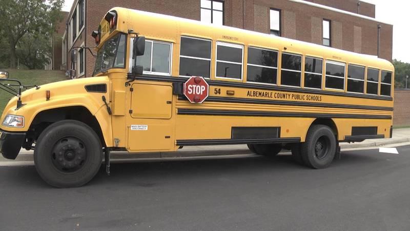Albemarle County school bus
