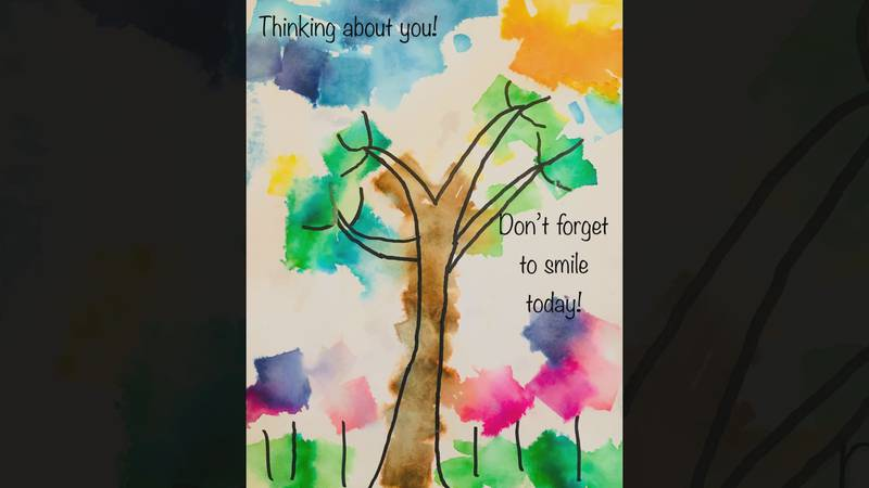 Students across central Virginia created colorful artwork with uplifting messages for people...