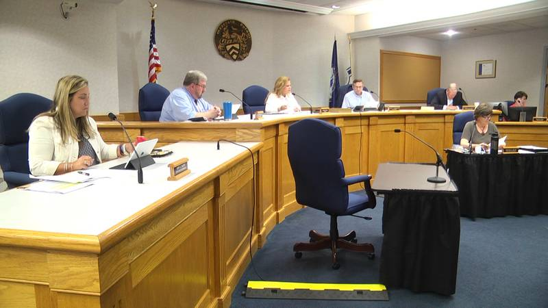 Staunton City Council during a meeting at City Hall in downtown Staunton.