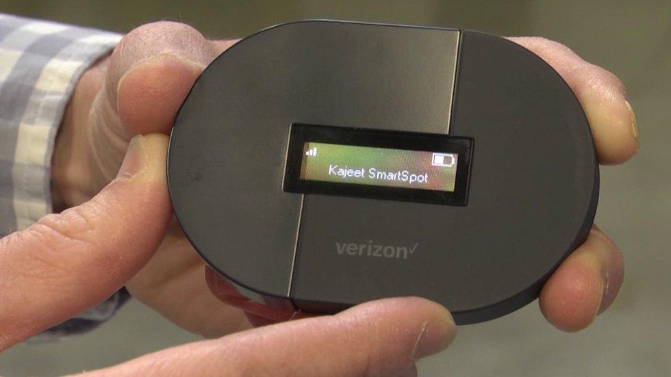 Wi-Fi hotspot device.