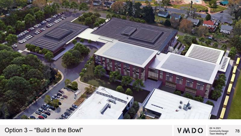 The planned renovations for Charlottesville's Buford Middle School.