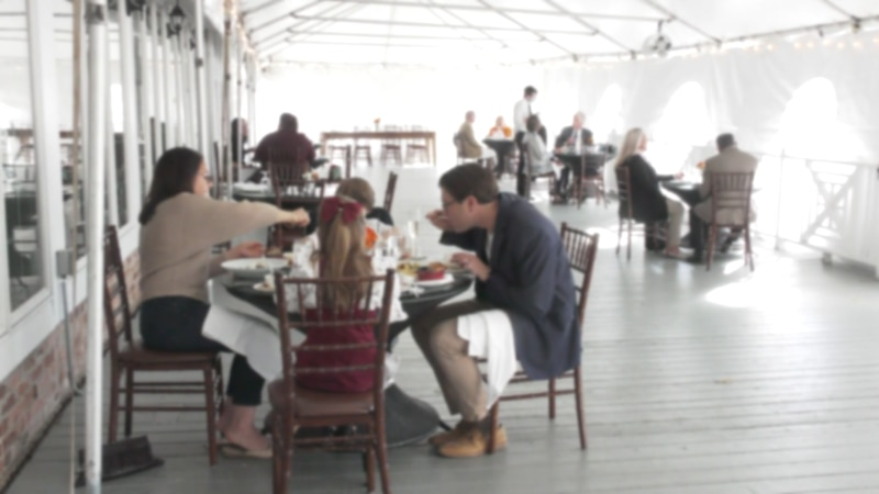 Guests had Thanksgiving dinner at the Clifton Inn Thursday