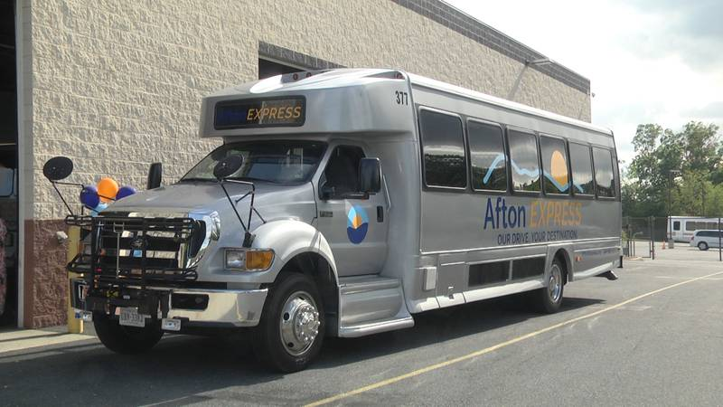New Afton Express commuter bus that's set to go into service September 1, connecting the...
