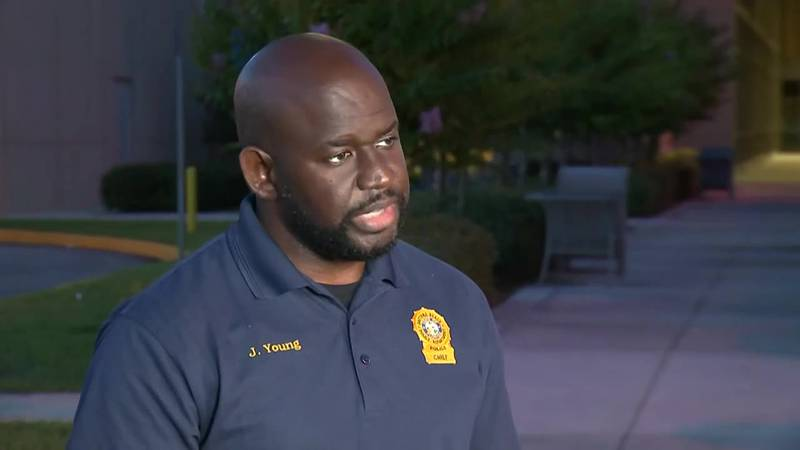 Chief Jakari Young says the officer shot is 26 years old. (Source: WESH via CNN Newsource)