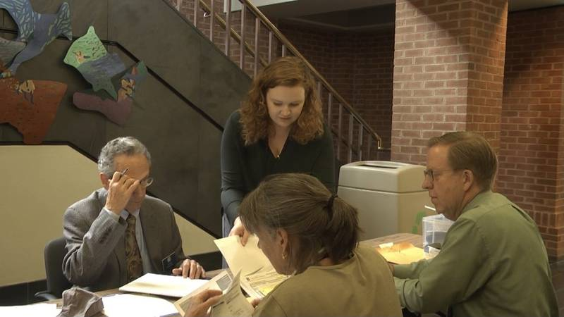 Charlottesville Electoral Board certifying ballots.