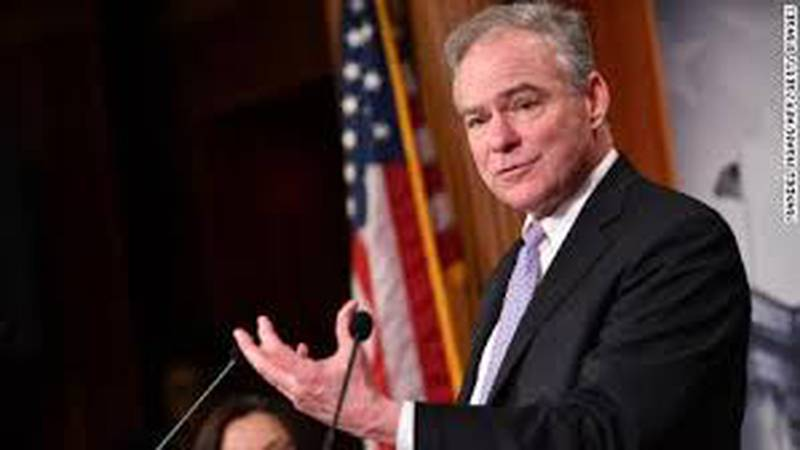 U S Senator Tim Kaine announces bill forcing employers to offer paid sick leave in light of...