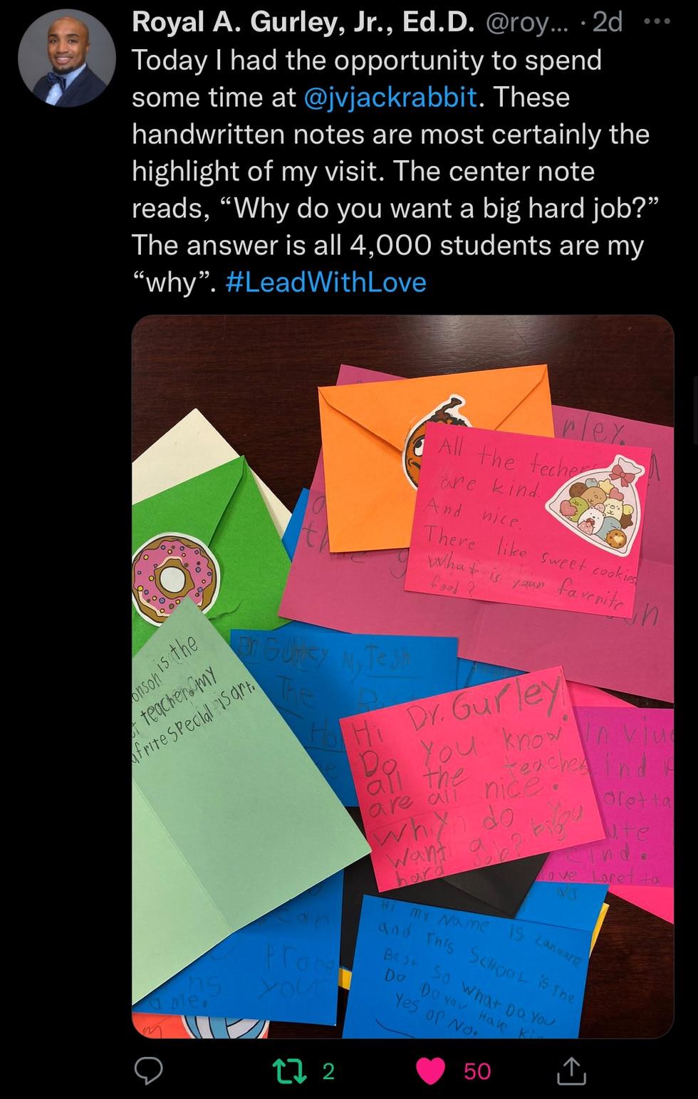 Dr. Gurley's Tweet