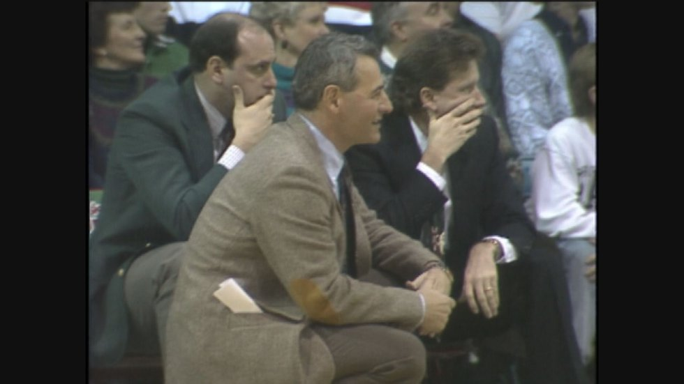 Dick Bennett on the sidelines with Wisconsin-Green Bay