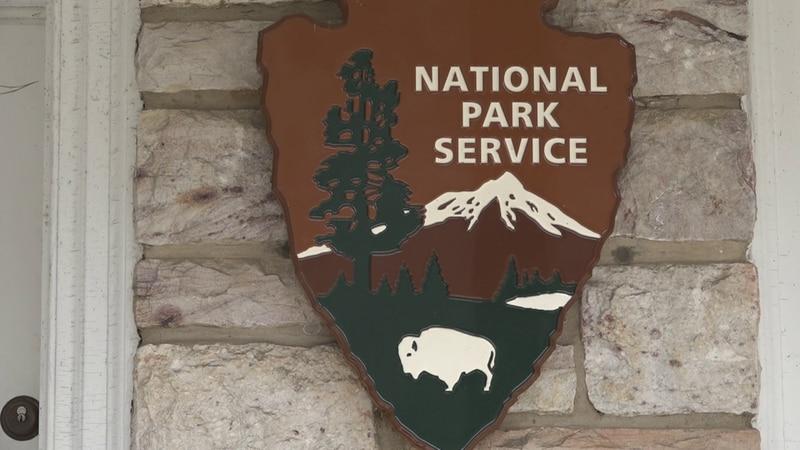 National Park Service sign at Shenandoah National Park.