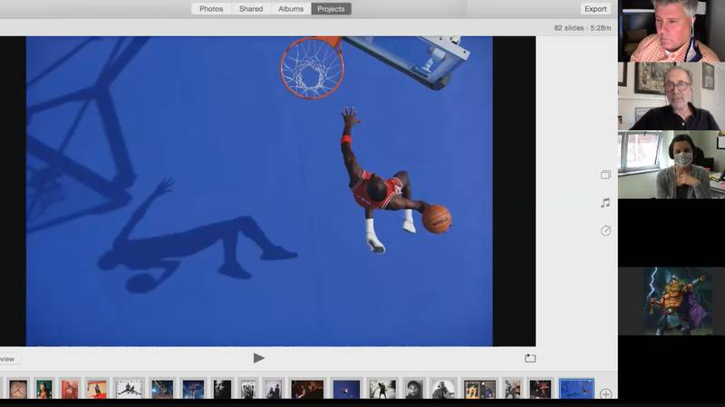 Photographer Walter Iooss talks about one of his most famous photos of Michael Jordan during a...