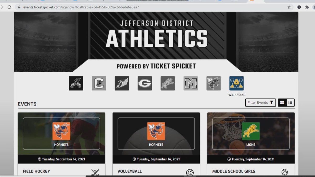 Jefferson DIstrict using Ticket Spicket for mobile tickets