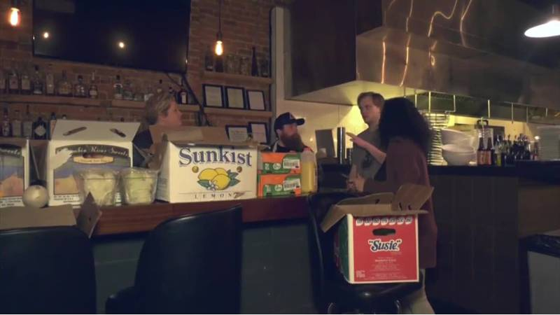 Some food service workers in Charlottesville are getting a helping hand with groceries during...