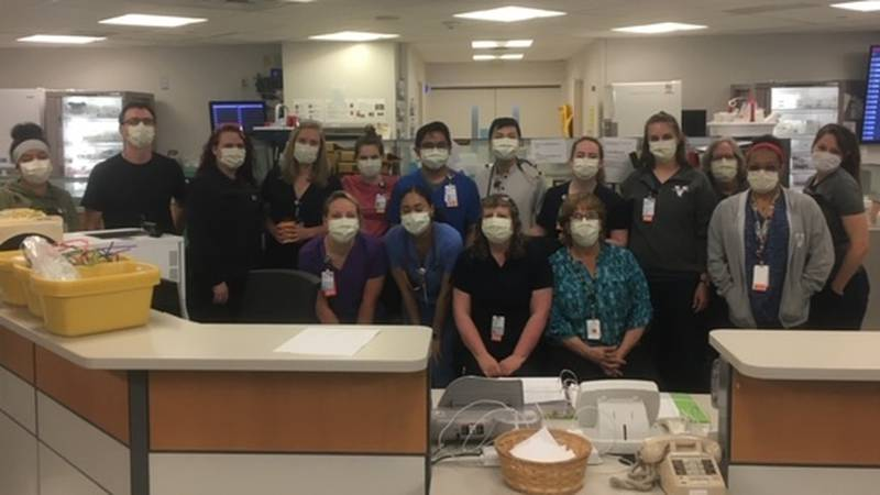 Nurses at University of Virginia Medical center who have treated COVID-19 patients.